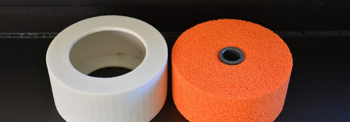 Anello protettivo in silicone per rulli stiratura etichette